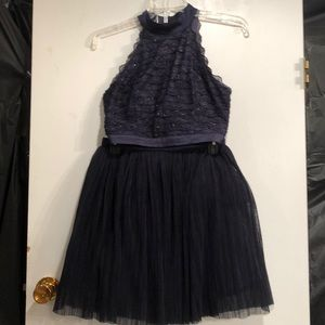 Trixxi Dark Navy 2 piece skirt & Top size 3